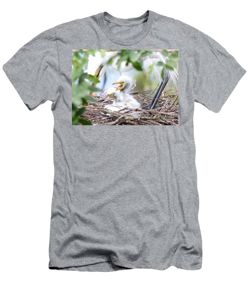 Baby Egret Yawn Men's T-Shirt (Athletic Fit)