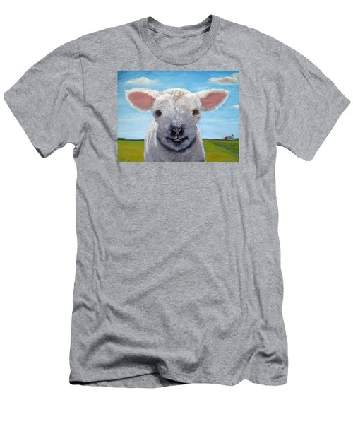 Baby Farm Lamb Sheep  Men's T-Shirt (Athletic Fit)