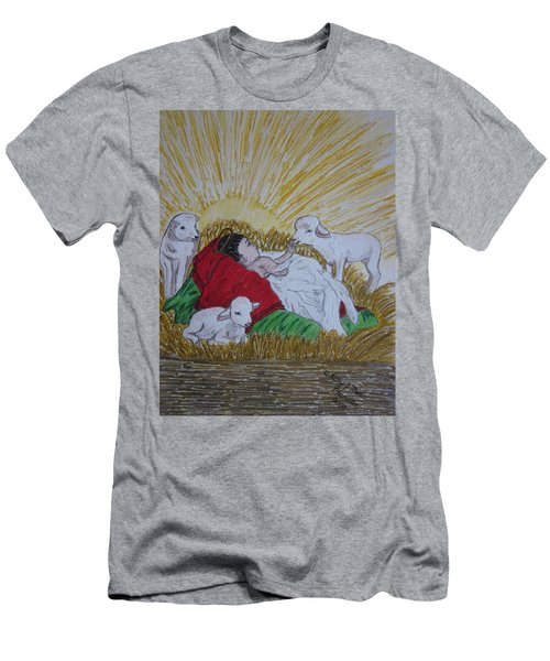 Baby Jesus At Birth Men's T-Shirt (Athletic Fit)