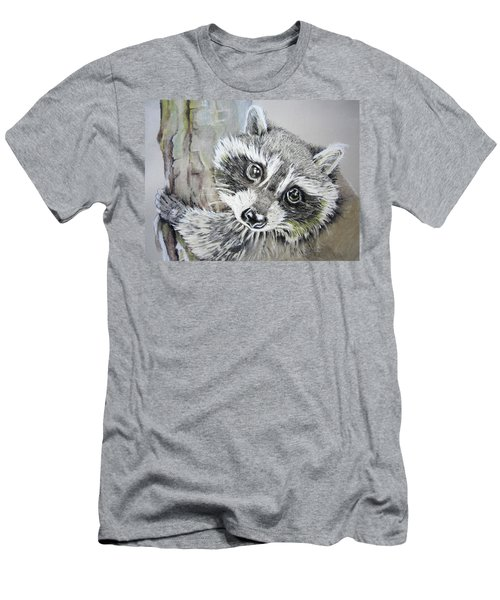 Baby Raccoon Men's T-Shirt (Athletic Fit)