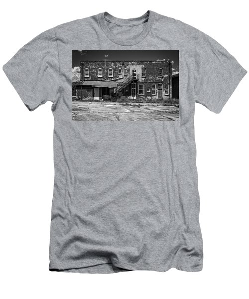 Men's T-Shirt (Slim Fit) featuring the photograph Back Lot - Bw by Christopher Holmes