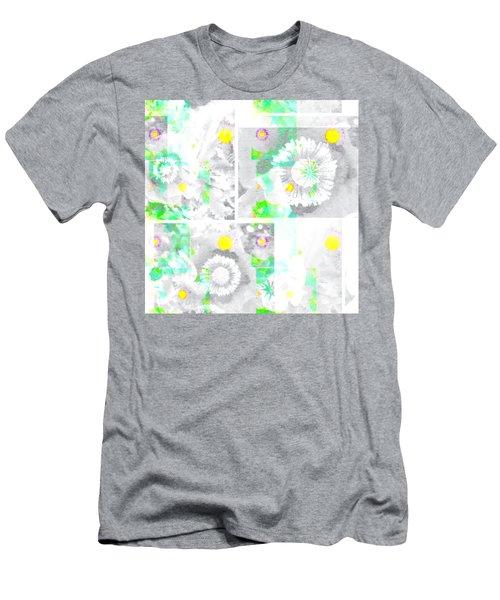 Colour Choice Poppy Collage Men's T-Shirt (Slim Fit) by Barbara Moignard