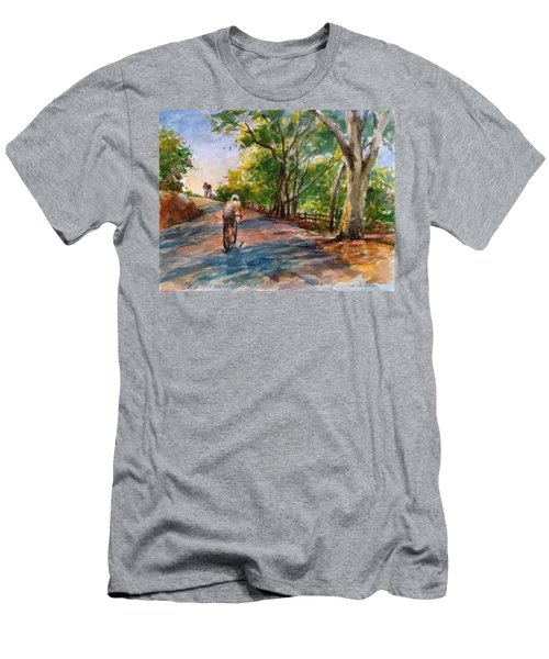 Backwoods Pedaling Men's T-Shirt (Athletic Fit)