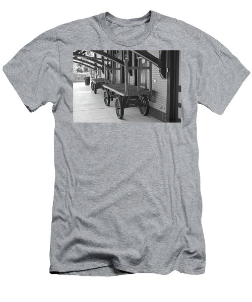 Baggage Carts Bw Men's T-Shirt (Athletic Fit)