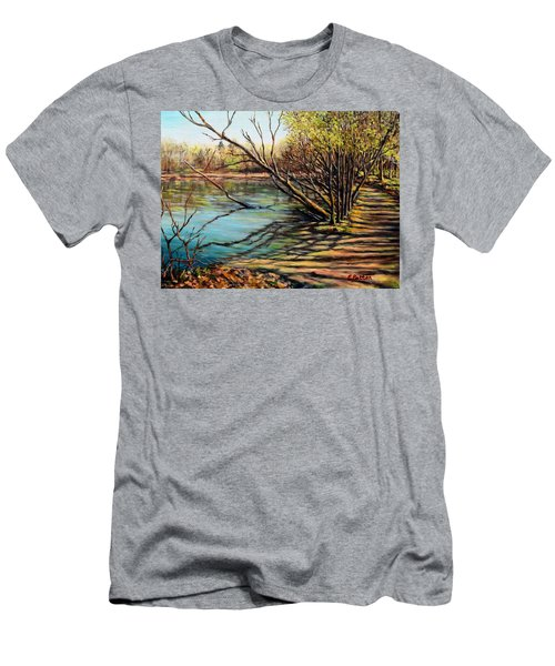 Bakers Pond Ipswich Ma Men's T-Shirt (Slim Fit) by Eileen Patten Oliver