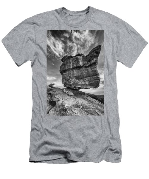 Balanced Rock Monochrome Men's T-Shirt (Athletic Fit)