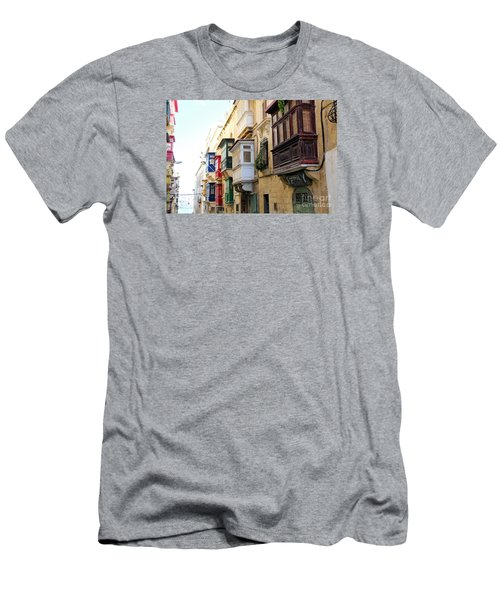Balconies Of Valletta 3 Men's T-Shirt (Athletic Fit)
