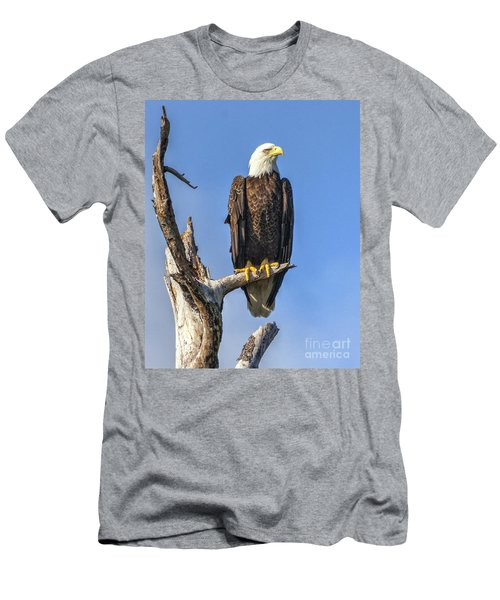 Men's T-Shirt (Athletic Fit) featuring the photograph Bald Eagle 6366 by Tommy Patterson