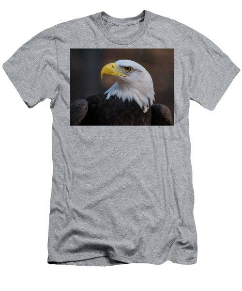 Men's T-Shirt (Slim Fit) featuring the digital art Bald Eagle Painting by Chris Flees