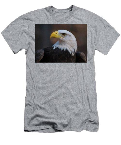 Bald Eagle Painting Men's T-Shirt (Slim Fit) by Chris Flees