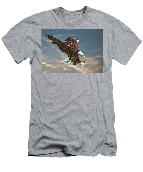 Bald Eagle Swooping Men's T-Shirt (Athletic Fit)