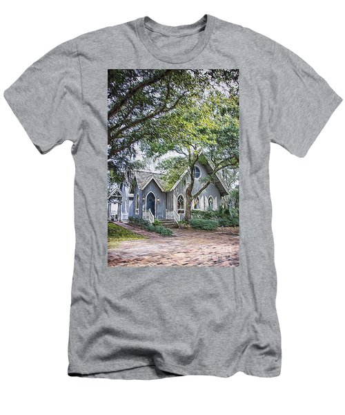 Bald Head Island Chapel Men's T-Shirt (Athletic Fit)