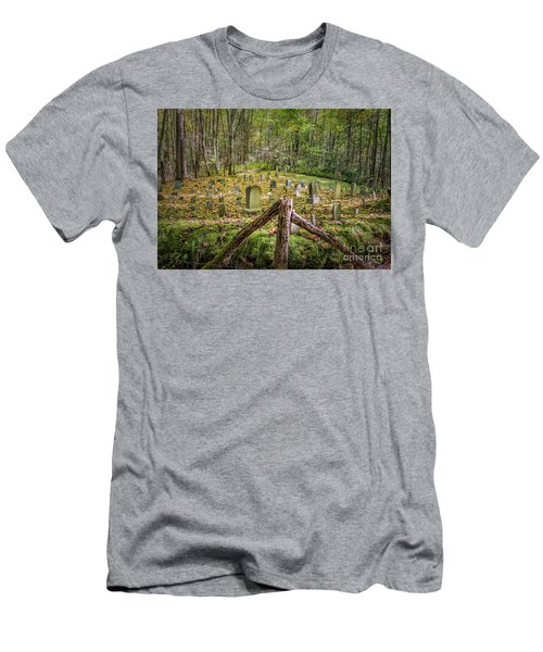 Bales Cemetery Men's T-Shirt (Slim Fit) by Patrick Shupert