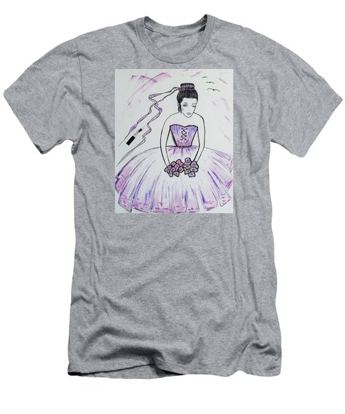 Ballerina Bride  Men's T-Shirt (Athletic Fit)
