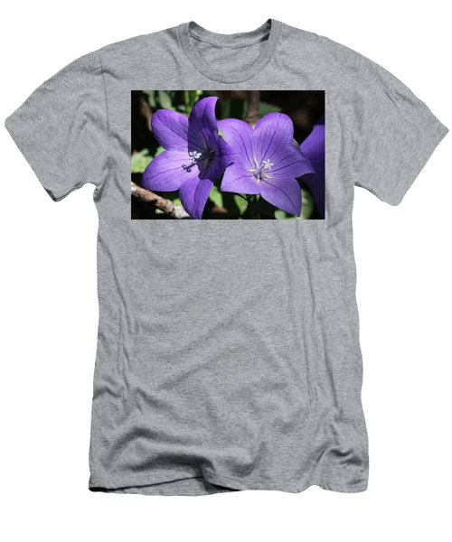 Men's T-Shirt (Athletic Fit) featuring the photograph Balloon Flowers by Sheila Brown