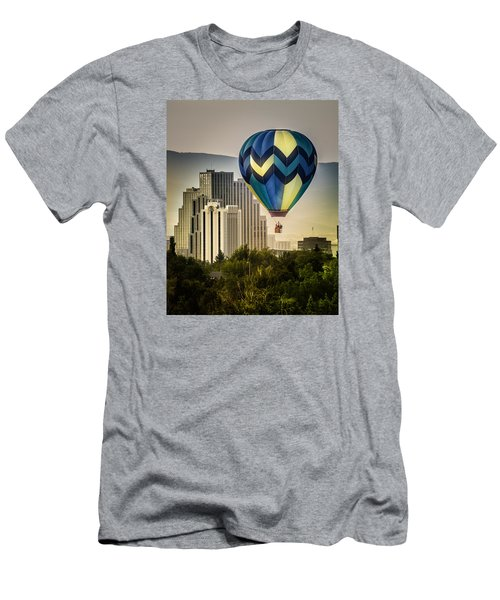 Men's T-Shirt (Slim Fit) featuring the photograph Balloon Over Reno by Janis Knight