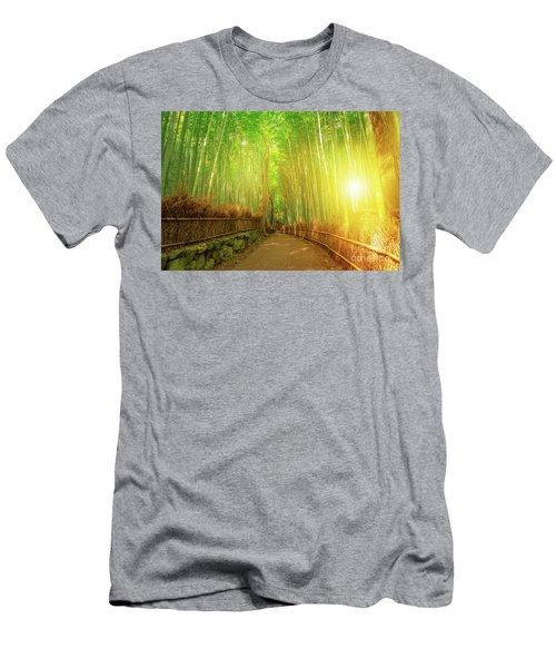 Bamboo Grove Arashiyama Kyoto Men's T-Shirt (Athletic Fit)
