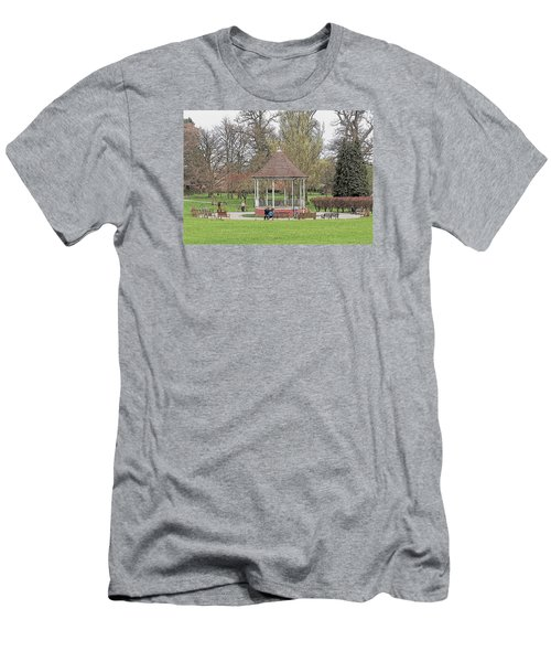 Men's T-Shirt (Slim Fit) featuring the drawing Bandstand Games by Paul Gulliver