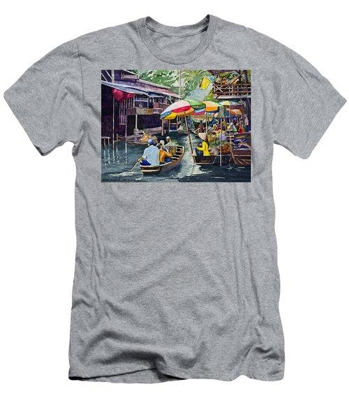 Bangkok's Floating Market Men's T-Shirt (Athletic Fit)