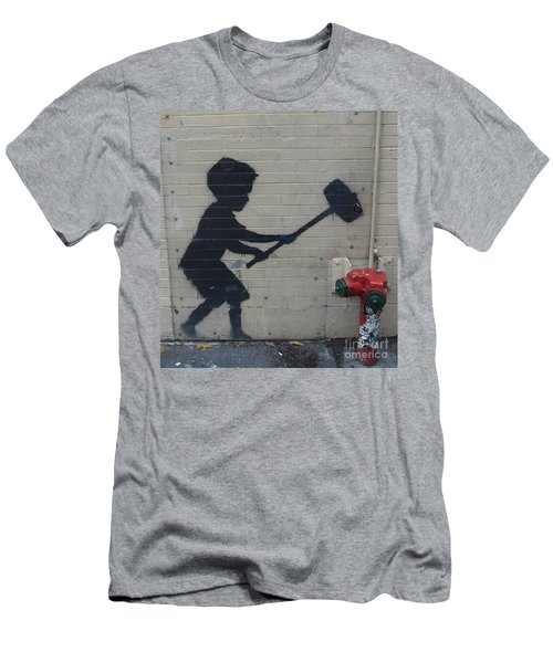 Banksy In New York Men's T-Shirt (Athletic Fit)