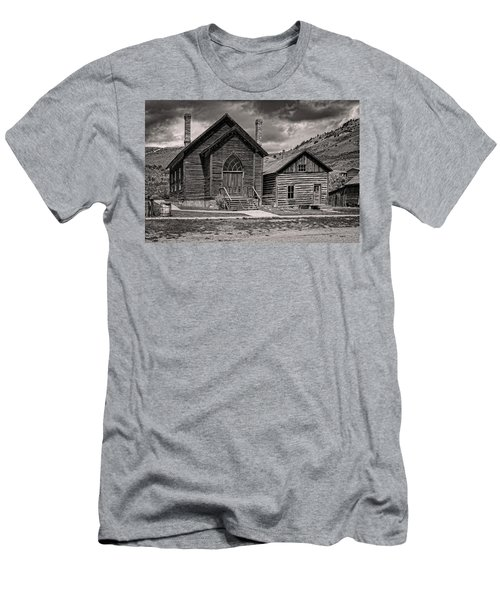 Men's T-Shirt (Athletic Fit) featuring the photograph Bannack Church by Scott Read