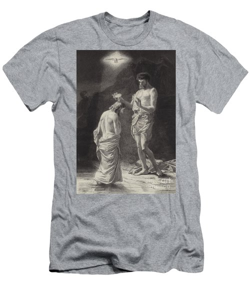 Baptism Of Christ  Illustration For The Gospel According To Saint Matthew  Men's T-Shirt (Athletic Fit)