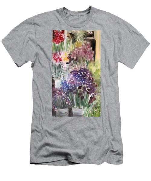 Barcelona Flower Mart Men's T-Shirt (Athletic Fit)