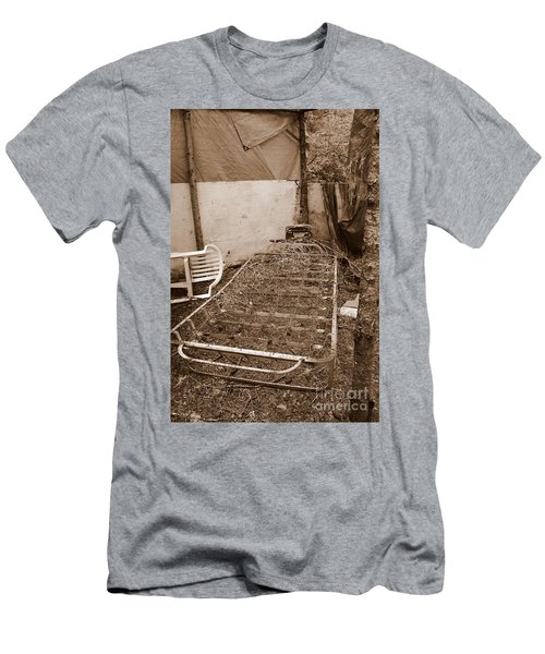 Men's T-Shirt (Athletic Fit) featuring the photograph Bare Bones Miners Camp by Marie Neder