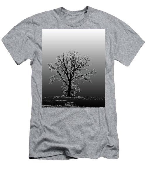 Bare Tree In Fog- Pe Filter Men's T-Shirt (Slim Fit) by Nancy Landry