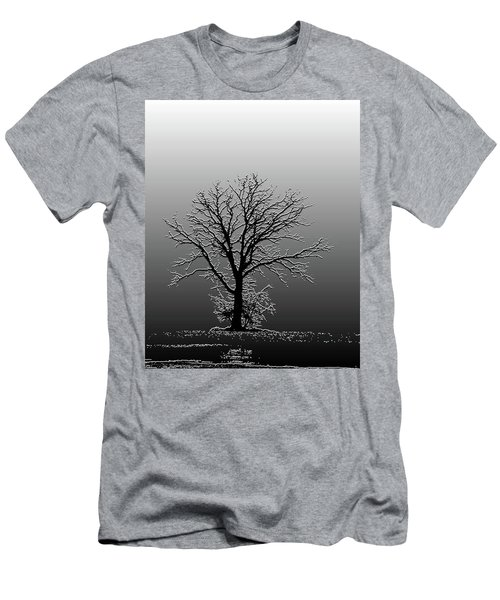 Bare Tree In Fog- Pe Filter Men's T-Shirt (Athletic Fit)