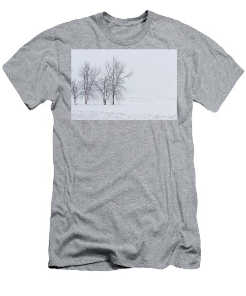 Bare Trees In A Snow Storm Men's T-Shirt (Athletic Fit)