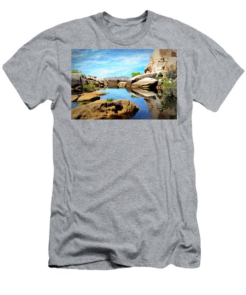 Barker Dam - Joshua Tree National Park Men's T-Shirt (Slim Fit) by Glenn McCarthy Art and Photography