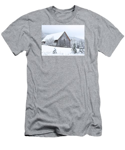 Barn After Snow Men's T-Shirt (Slim Fit) by Tim Kirchoff