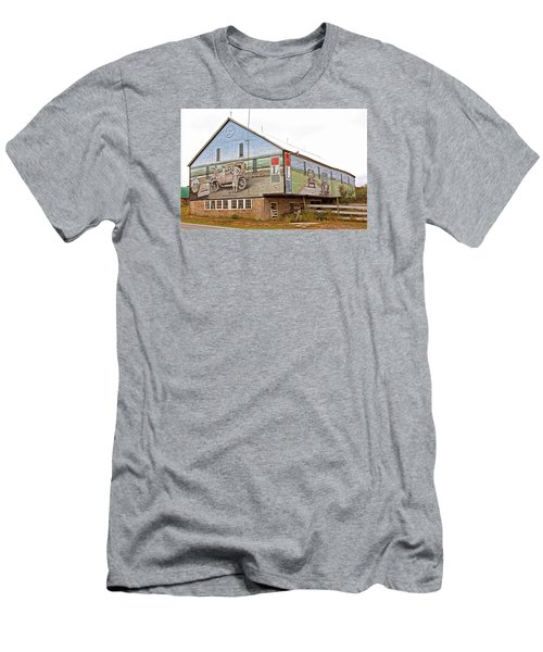 Men's T-Shirt (Slim Fit) featuring the photograph Barn In Bedford by Trina  Ansel
