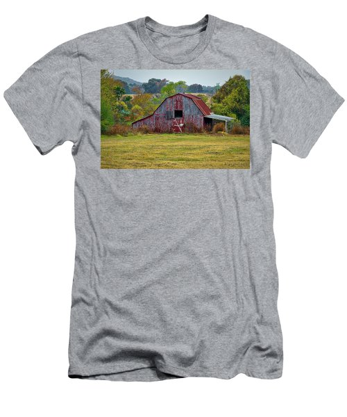 Barn On White Oak Road Men's T-Shirt (Athletic Fit)