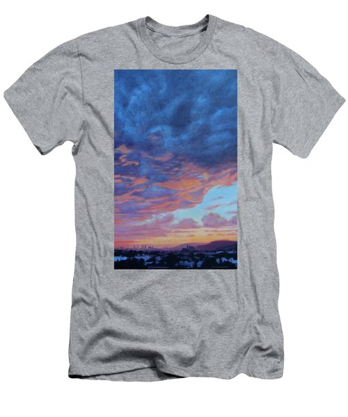 Men's T-Shirt (Slim Fit) featuring the painting Barnsdall Hill by Andrew Danielsen