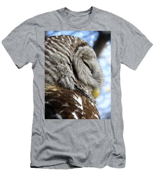 Barred Owl Beauty Men's T-Shirt (Slim Fit) by Rebecca Overton