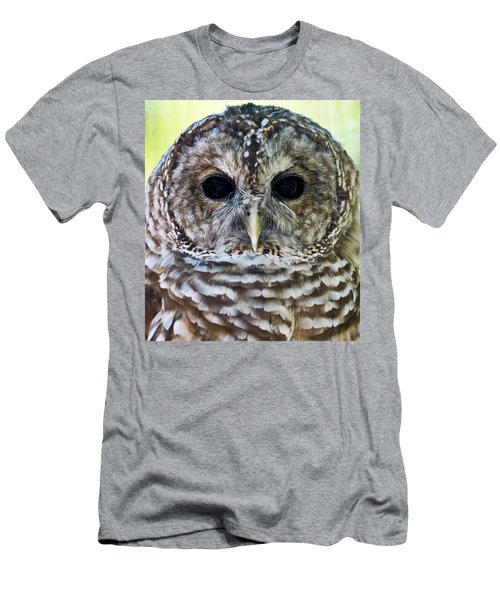 Barred Owl Closeup Men's T-Shirt (Athletic Fit)