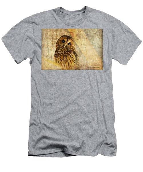 Barred Owl Men's T-Shirt (Slim Fit) by Lois Bryan