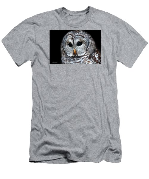 Barred Owl Portrait Men's T-Shirt (Slim Fit) by CR  Courson