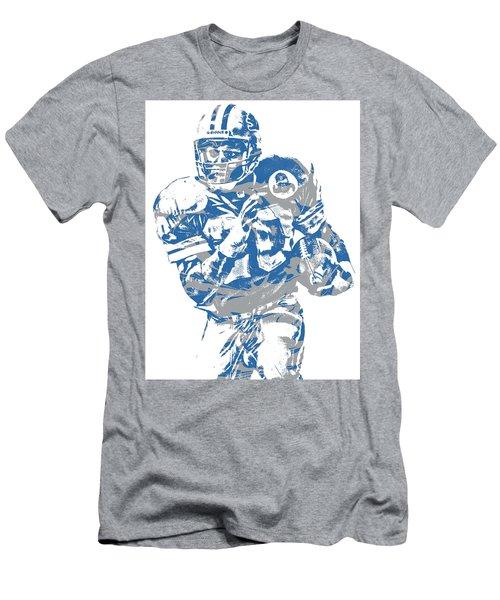 Barry Sanders Detroit Lions Pixel Art 2 Men's T-Shirt (Athletic Fit)