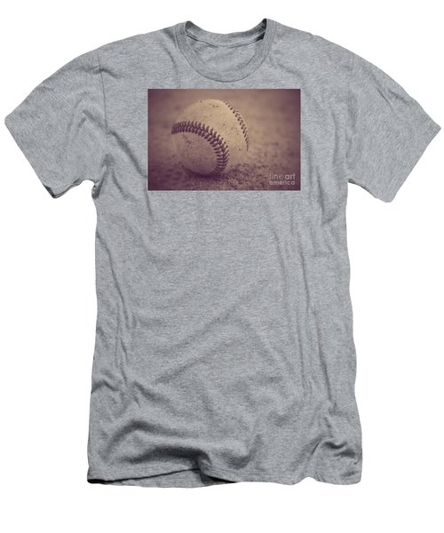 Baseball In Sepia Men's T-Shirt (Athletic Fit)