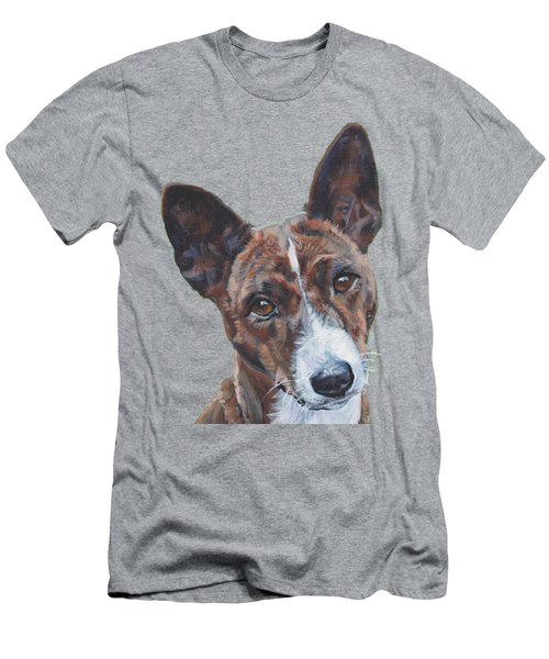 Basenji Dog Painting Men's T-Shirt (Athletic Fit)