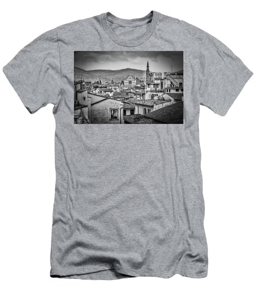 Men's T-Shirt (Slim Fit) featuring the photograph Basilica Di Santa Croce by Sonny Marcyan