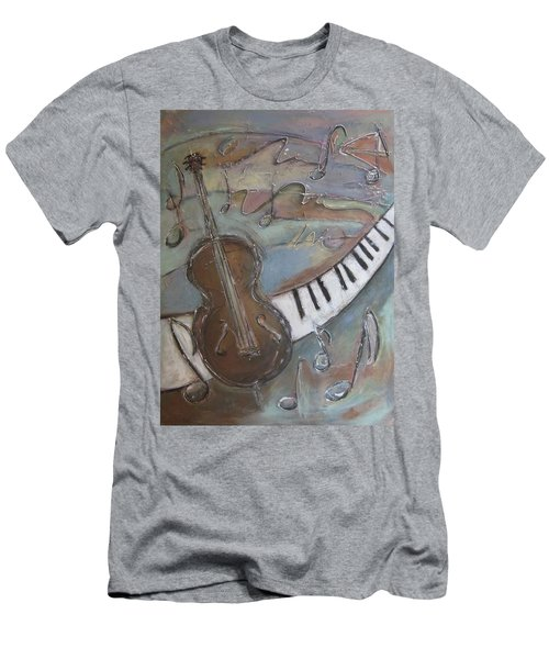 Bass And  Keys Men's T-Shirt (Athletic Fit)