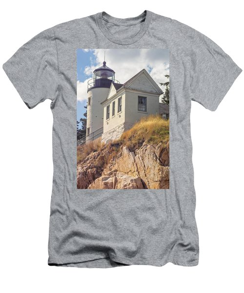 Bass Harbor Light Photo Men's T-Shirt (Athletic Fit)