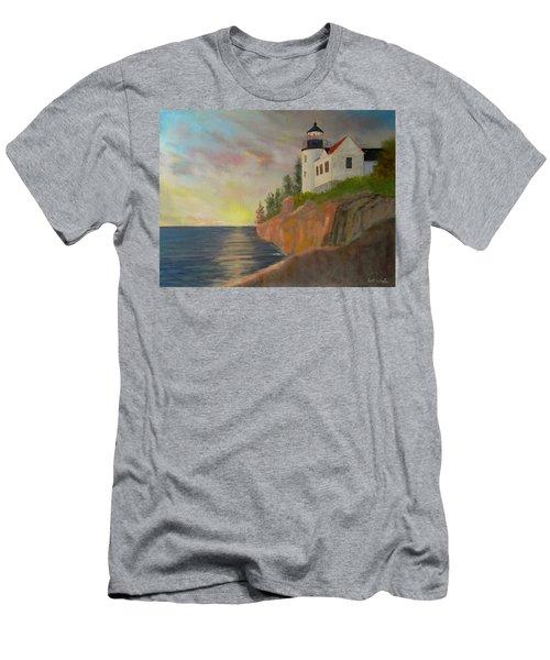 Bass Harbor Light Men's T-Shirt (Athletic Fit)