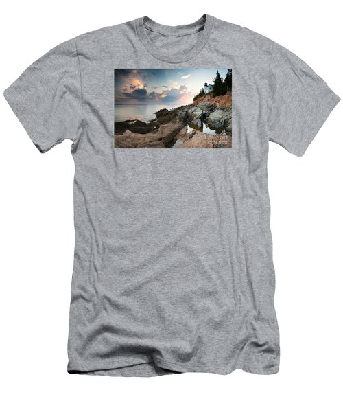 Bass Harbor Lighthouse At Dusk Men's T-Shirt (Athletic Fit)