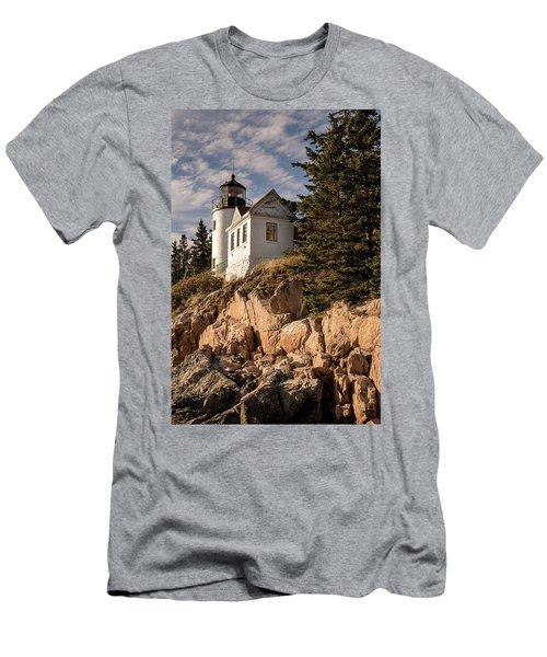 Bass Harbor Lighthouse Men's T-Shirt (Athletic Fit)