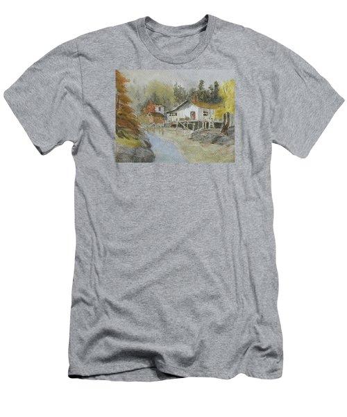 Bass Harbor Retreat Men's T-Shirt (Athletic Fit)